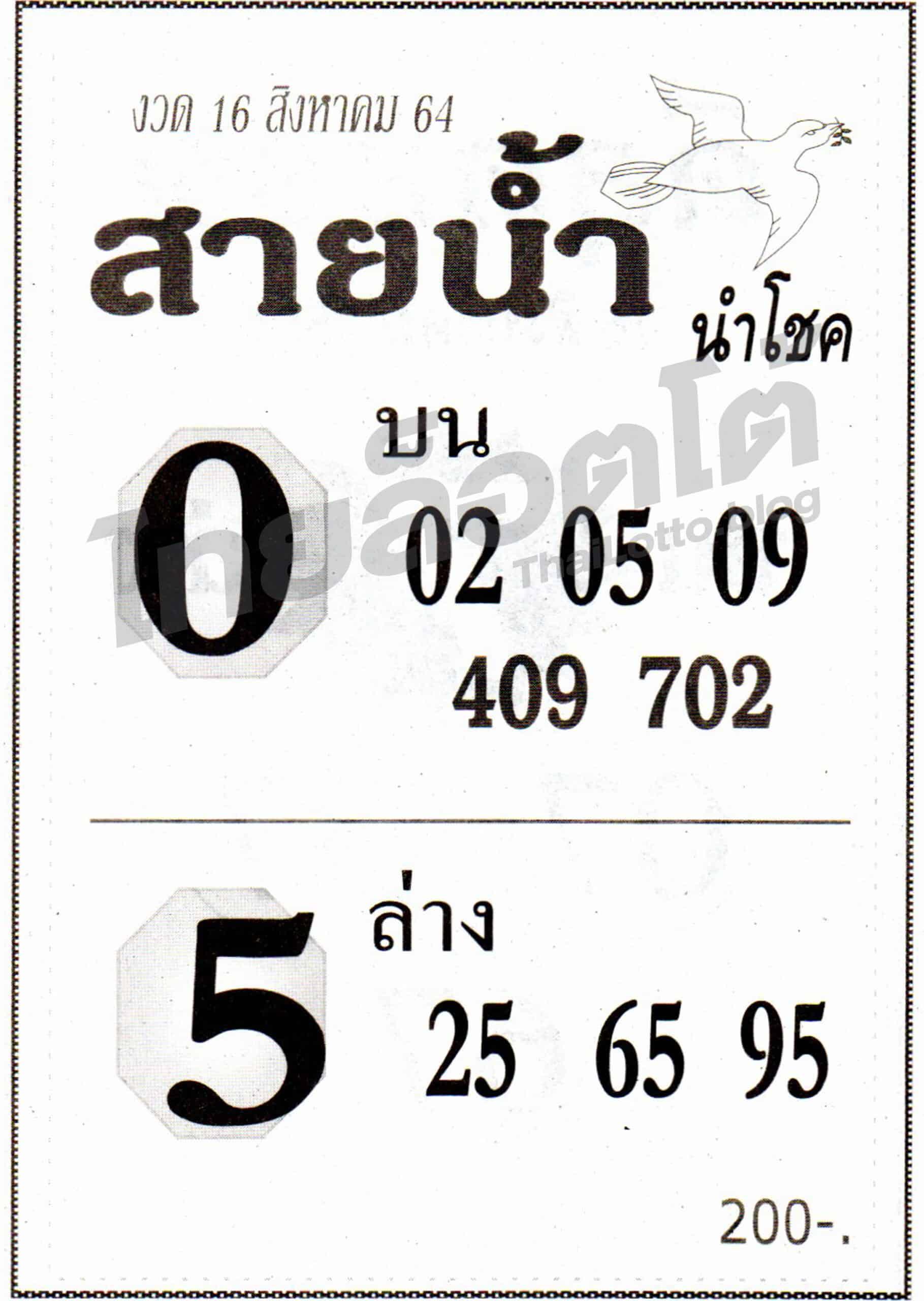 หวยซอง หวยสายน้ำนำโชค-160864