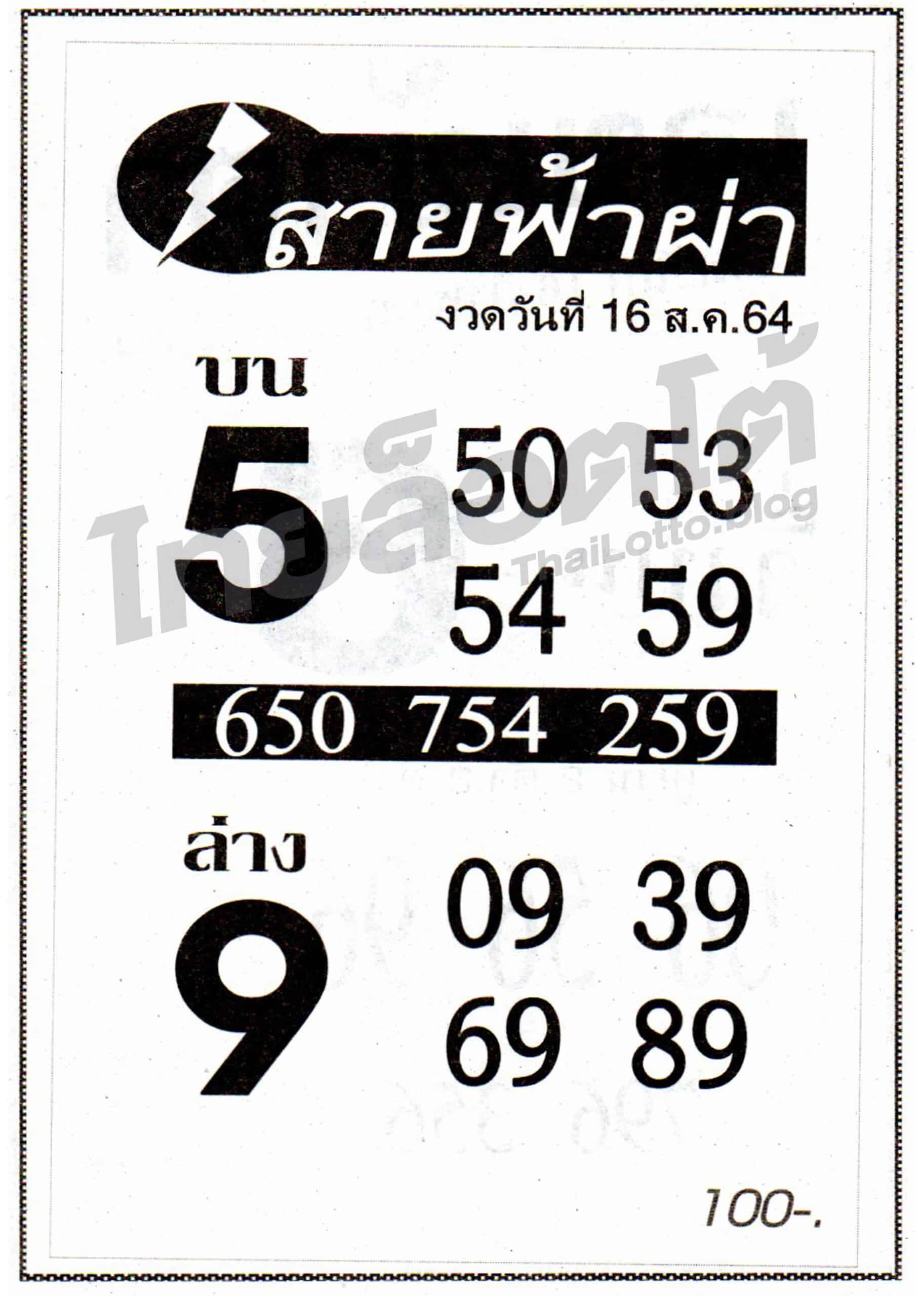 หวยซอง หวยสายฟ้าผ่า-160864