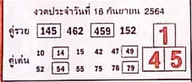 หวยซอง หวยบอกลาภ-160964