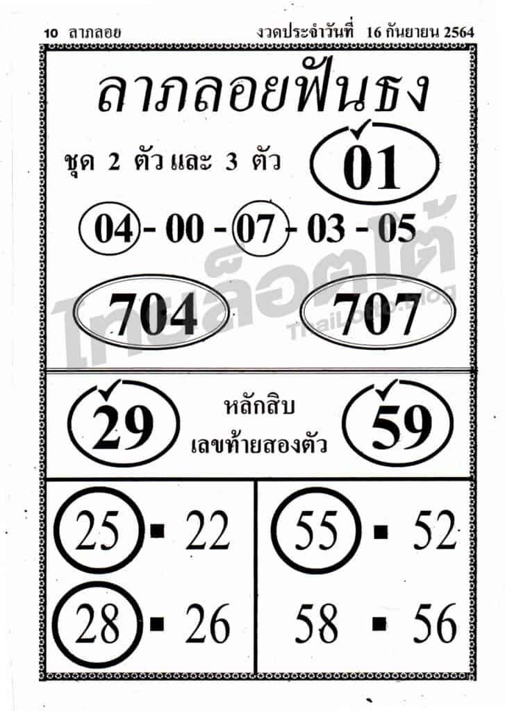 หวยซอง หวยลาภลอยฟันธง-160964