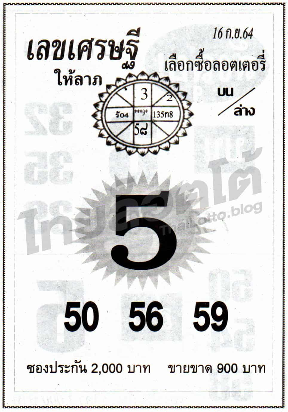 หวยซอง หวยเลขเศรษฐีให้ลาภ-160964