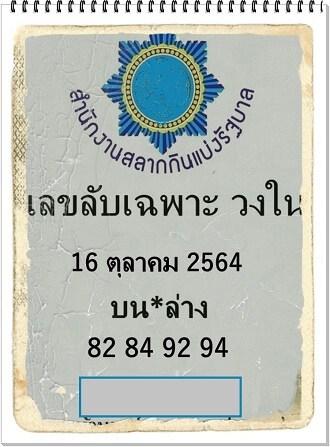 หวยซอง หวยเลขลับเฉพาะวงใน-161064
